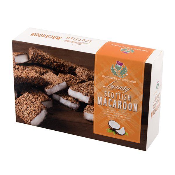 Traditional scottish macaroon carton