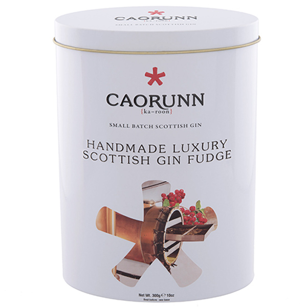 Caorunn Scottish gin fudge tin